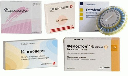 Таблетки для ЗГТ
