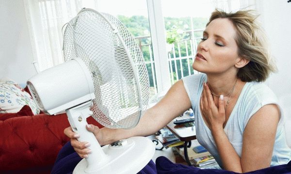 женщина и вентилятор