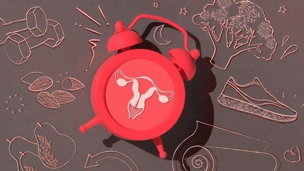 красный будильник