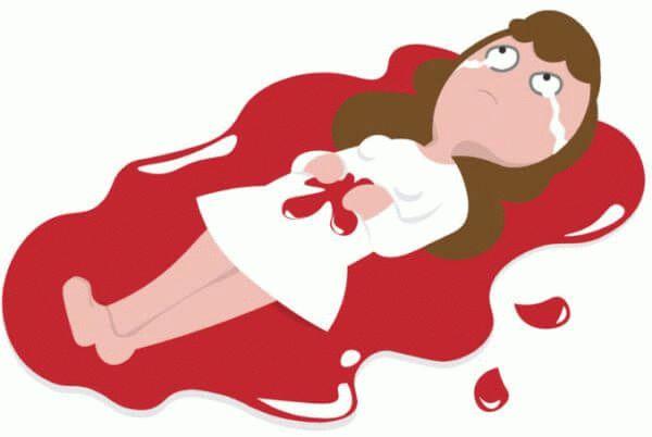 девушка в луже крови