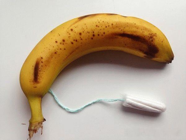 банан и тампон