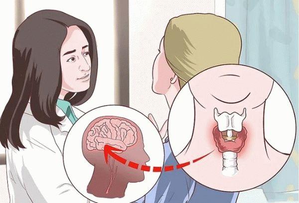 врач осматривает щитовидку