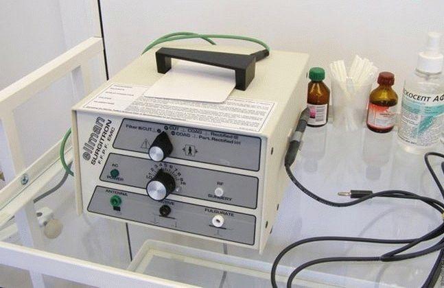 прибор для радиоволнового прижигания