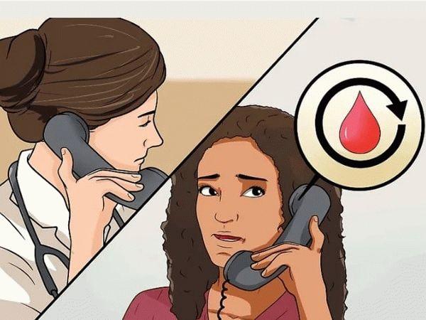 звонит врачу