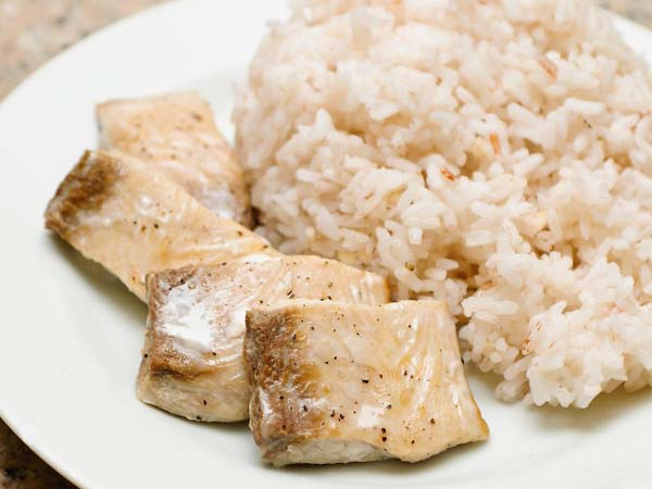 курица и рис на пару