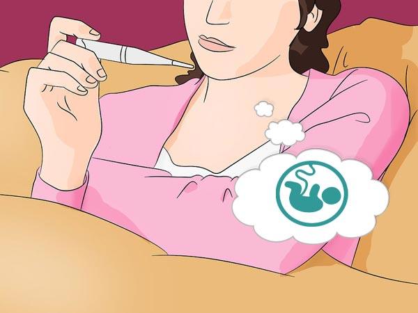 делает тест на беременность
